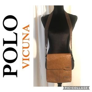 POLO VICUÑA MENS Pu Leather Shoulder Bag